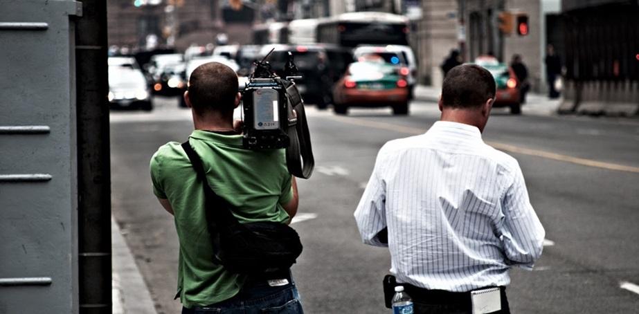 Jornalistas em serviço. Foto: EBC